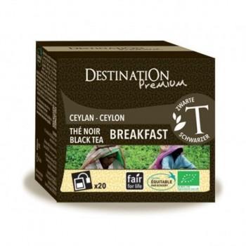 Desayuno de té negro inglés...