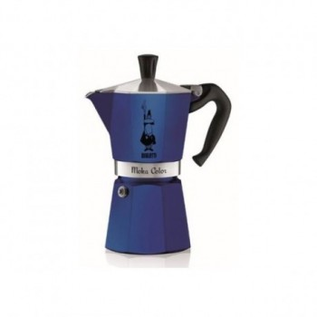 Moka Color Blue 6 Tasses
